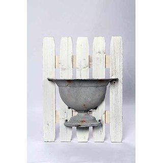 wooden frame mounted vase