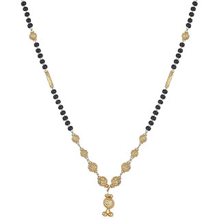 Bhagya Lakshmi Women's Pride Designer Gold Plated Mangalsutra Pendant with Chain for Women