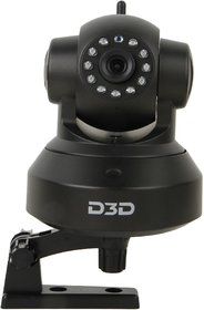 D3D Wireless HD IP Wifi CCTV Indoor Security Camera (Black Color) ModelD8801