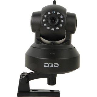 D3D Wireless HD IP Wifi CCTV Indoor Security Camera (Black Color) ModelD8801