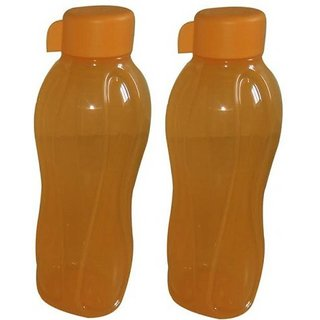 tupperware 1000ml water bottle set of 2 orange