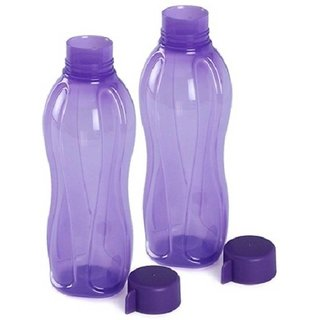 tupperware 1000ml water bottles set of 2 purple