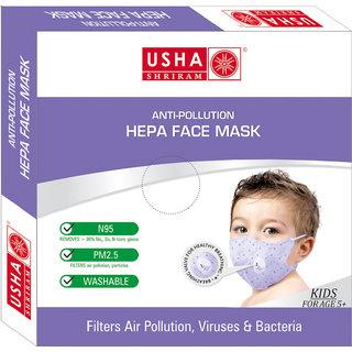 Usha Shriram Anti-Pollution Air Mask (pack of 1) Child Face Mask