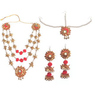 Loops n knots Gotta Patti Handmade Jewellery For Haldi  Mehandi  Wedding Pre-Shoot (ns081)