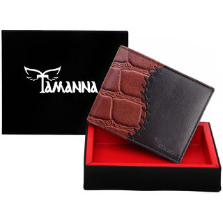 Tamanna Men Brown Genuine Leather Wallet  (6 Card Slots)