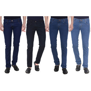 Masterly weft Multicolored Pack Of 4 Slim Jeans For men