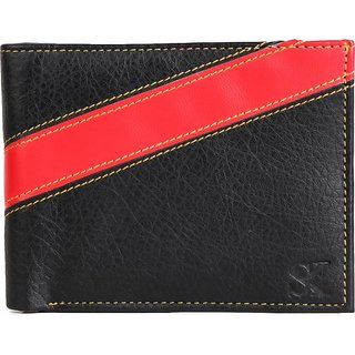 Styler King Men Red Artificial Leather Wallet (4 Card Slots)