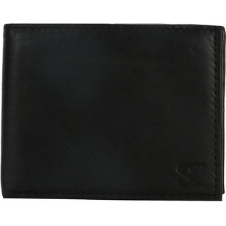 STYLER KING Black Genuine Leather Wallet for Men