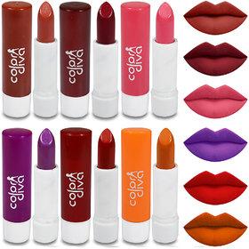 Color Diva Color Addiction Multicolor Lipstick Pack Of 6
