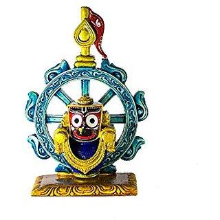 Beautiful handicraft marble God idol Krishna idol Jagannath Idol . size (6x5x3)inches