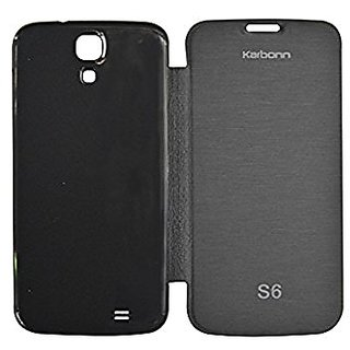 Karbonn Titanium S6 Flip Cover - Black