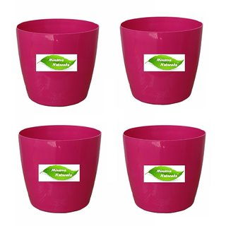 6'' table top pot ( Pink color) PACK OF 4 - Minerva Naturals