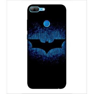Printed Cover Super hero ( Symbol of a warrior, bat, nice symbol, Black Background, black bat) Printed Designer Back Case Cover for Huawei Honor 9 Lite