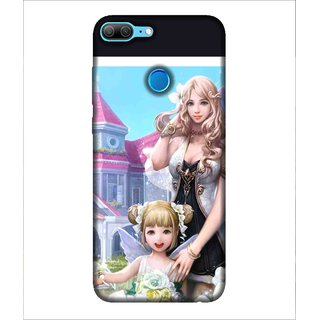 Printed Cover baby doll ( cute doll, Brown hair, beautiful eyes, cute girls, flowery dress) Printed Designer Back Case Cover for Huawei Honor 9 Lite