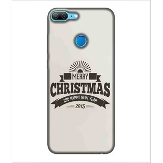 Printed Cover Merry chritmas ( wishes for everyone, Happy New Year, white background) Printed Designer Back Case Cover for Huawei Honor 9 Lite