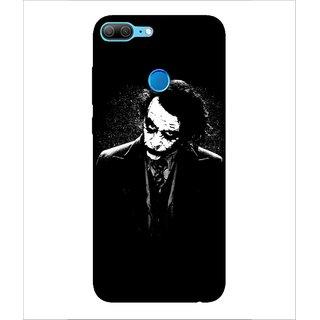 Printed Cover joker ( villian, Black Background, white face, man in black) Printed Designer Back Case Cover for Huawei Honor 9 Lite