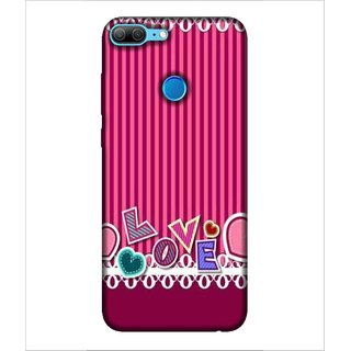 Printed Cover love ( symbol of heart, pick background, cover for lover, love for each other) Printed Designer Back Case Cover for Huawei Honor 9 Lite