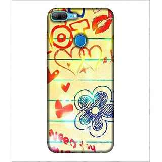Printed Cover Lot of love ( symbol of heart, cover for lover, love for each other, cover for love birds) Printed Designer Back Case Cover for Huawei Honor 9 Lite