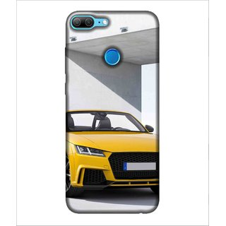 Printed Cover Yellow car ( car for men, car for women, classy car, trendy car, luxury car) Printed Designer Back Case Cover for Huawei Honor 9 Lite
