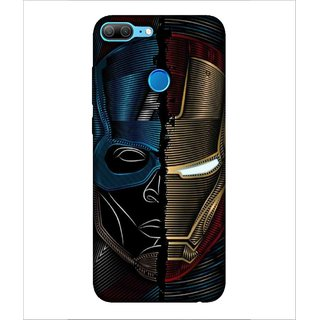 Printed Cover warrior ( super hero, red mask, ironed mask, man with super power, blue mask) Printed Designer Back Case Cover for Huawei Honor 9 Lite