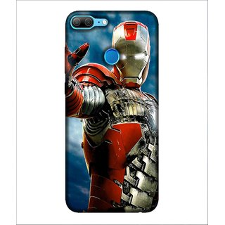 Printed Cover warrior ( super hero, yellow mask, ironed mask, man with super power, red iron costume) Printed Designer Back Case Cover for Huawei Honor 9 Lite