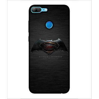 Printed Cover warrior ( super hero, Black Background, bat, man with super power, spider) Printed Designer Back Case Cover for Huawei Honor 9 Lite