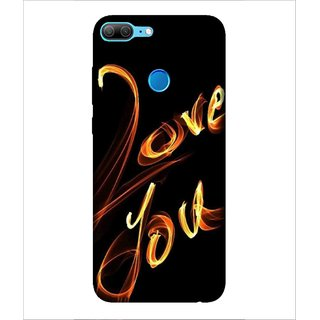 Printed Cover Love you ( black background, cover for lover, cover for lover, cover for love birds) Printed Designer Back Case Cover for Huawei Honor 9 Lite