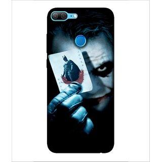 Printed Cover joker ( villian, Black Background, white face, man in black, bat) Printed Designer Back Case Cover for Huawei Honor 9 Lite