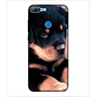 Printed Cover cute puppy ( black puppy, innocent dog, tiny eyes of dog) Printed Designer Back Case Cover for Huawei Honor 9 Lite