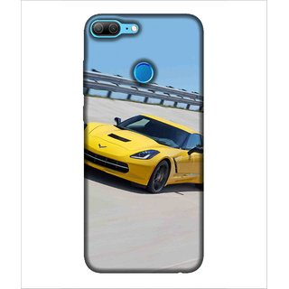 Printed Cover Yellow car ( Sports car, Racing car, classy car, trendy car, luxury car) Printed Designer Back Case Cover for Huawei Honor 9 Lite