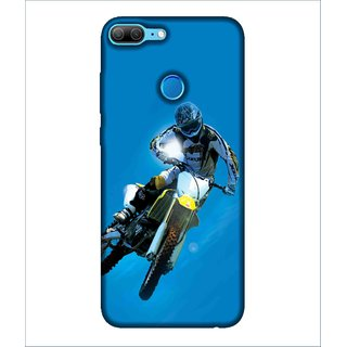 Printed Cover a rider riding the bike ( bike rider, race is began, amazing race bike, a sportsman, a awesome bike rider) Printed Designer Back Case Cover for Huawei Honor 9 Lite