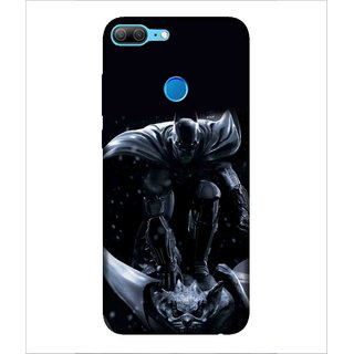 Printed Cover warrior ( super hero, Black Background, bat, man with super power) Printed Designer Back Case Cover for Huawei Honor 9 Lite