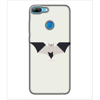 Printed Cover Super hero ( Symbol of a warrior, bat, nice symbol, white background, black and white bat) Printed Designer Back Case Cover for Huawei Honor 9 Lite