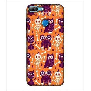 Printed Cover ghost pattern ( Owl in the cover, cat in the cover, amazing pattern) Printed Designer Back Case Cover for Huawei Honor 9 Lite