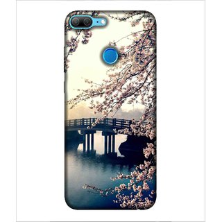 Printed Cover foot Bridge ( nice click, colourful trees, flowing water in the river, sun shine) Printed Designer Back Case Cover for Huawei Honor 9 Lite