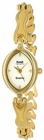 Hwt Gold Plated Oval Dail Women's Watch