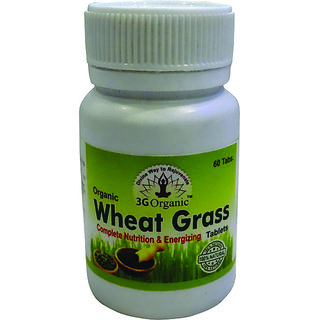 Wheat Grass Tablet Organic 60 Tablets 500Mg From 3G Organic