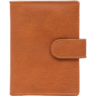 Allure Design Tan Card holder For Men (Synthetic leather/Rexine)
