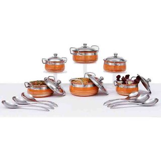 Royal sapphire stainless steel handi set 6 with lid and serving spoon