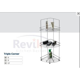 Triple corner basket