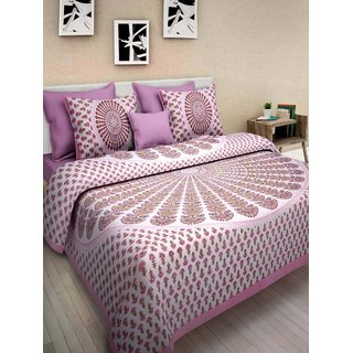 Dinesh Enterprises,Cotton Double Bedsheet with 2 Pillow Covers - Latest Summer Bedsheet for Bedroom Living Room