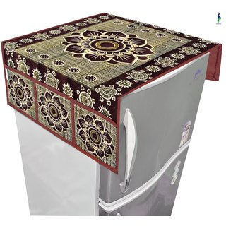 Nisol Mandala Kobicha Brown Refrigerator / Fridge Top Cover (Universal Size)