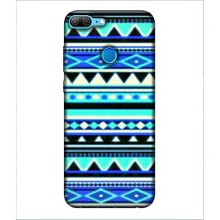 For Huawei Honor 9 Lite Pattern, Blue, Amazing Pattern, Beautiful Pattern,  Printed Designer Back Case Cover By Human Enterprise