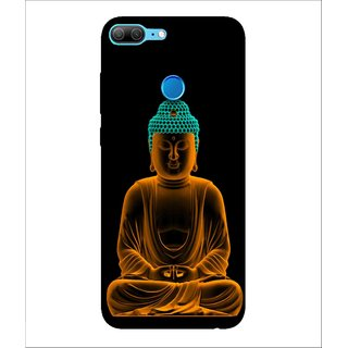 For Huawei Honor 9 Lite Buddha, Black, Buddha Pattern,  Printed Designer Back Case Cover By Human Enterprise