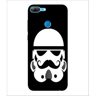 For Huawei Honor 9 Lite Animation, Black, Animated Beard Man,  Printed Designer Back Case Cover By Human Enterprise