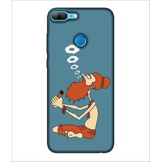 For Huawei Honor 9 Lite Chilam, Blue, Baba With Chilam, Dhogi Baba,  Printed Designer Back Case Cover By Human Enterprise
