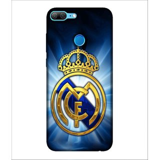 For Huawei Honor 9 Lite Crown, Blue, Sports Crown,  Printed Designer Back Case Cover By Human Enterprise