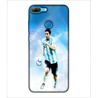 For Huawei Honor 9 Lite Football, Blue, Player In Action, Football star,  Printed Designer Back Case Cover By Human Enterprise
