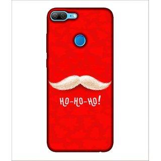 For Huawei Honor 9 Lite Mustash, Red, White Mushtash, Ho Ho Ho,  Printed Designer Back Case Cover By Human Enterprise