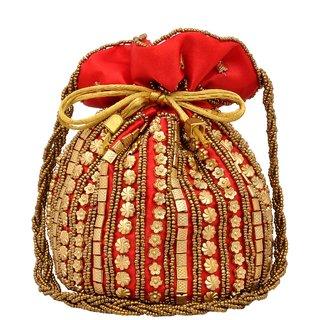 GRV Fashion Potli Bag(Red)